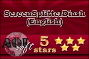 ScreenSplitterDiashow (English): 5 Star Award at aol-soft.com