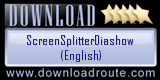 ScreenSplitterDiashow (English): 5 Star Award at downloadroute.com